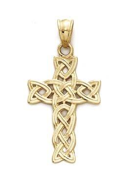 Or 14ct Pendentif Croix celtique