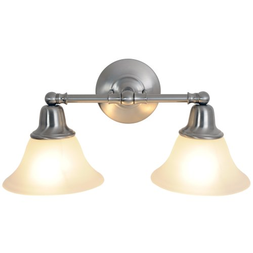Monument 617219 18-Inch W by 9-1/4-Inch H by 8-3/8-Inch Proj. Sonoma Lighting Collection 2 Light Vanity, Brushed Nickel ()