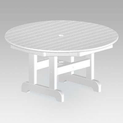 Round Polywood Coffee Table - Round Conversation Coffee Table Finish: Slate Grey, Size: 36