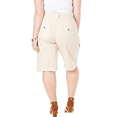 Roamans Women's Plus Size Cargo Shorts at Women's Clothing store
