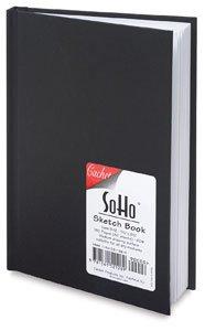 Cachet Soho 8-1/2 x 11 inch Hardbound Black Sketchbook