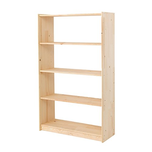 Wooden Bookcase Pine Office Shelving Storage Unit 5 Or 7 Tier Bookcases (5 Shelves - 1307h x 800w x 300d mm)