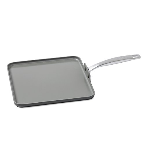 GreenPan Chatham 11″ Ceramic Non-Stick Square Griddle, Grey Review