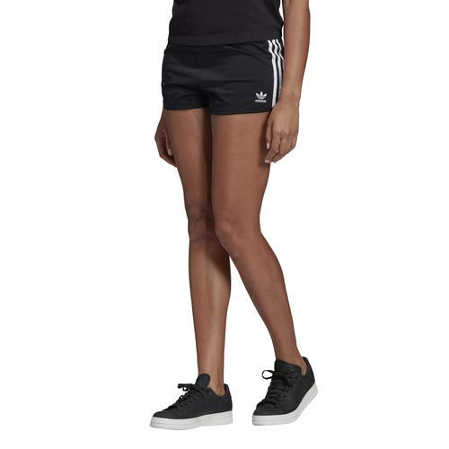 adidas Originals Women's 3-Stripes Shorts, Black, -