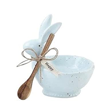 Mud Pie Speckled Bunny Dip Cup Set (Blue)