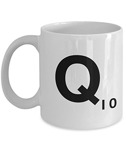Letter Q Scrabble White Mug Tea Cup Gift - 11oz Ceramic
