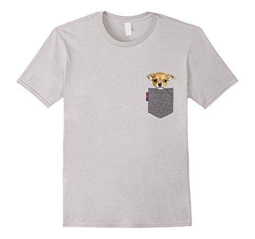 Funny Chihuahua in a Pocket Cute Puppy Tshirt