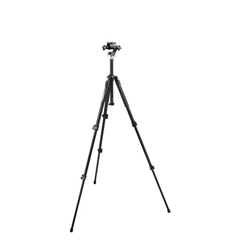 Manfrotto 190XB 3 Section Aluminum Tripod with Manfrotto - Manfrotto Tripod 190xb
