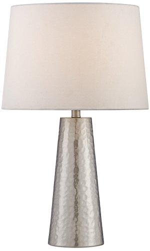 Very Silver Leaf Hammered Metal Cylinder Table Lamp - - Amazon.com UD52