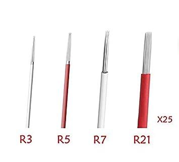 Amazoncom Yeham Semi Permanent Makeup Round Microblade Needles