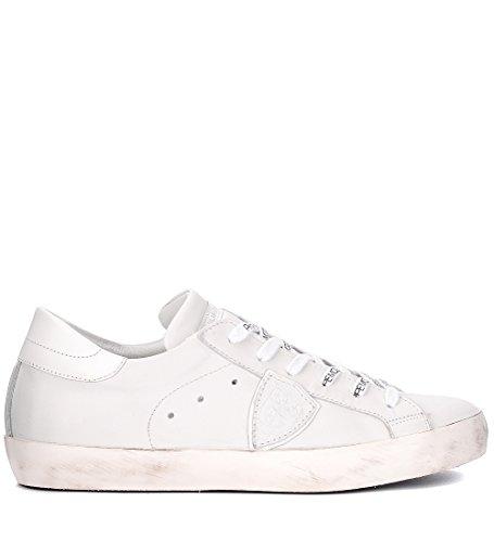 Philippe Sneaker Paris Bianco Bianca Pelle in Model rfz4qw6r