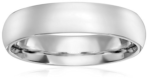 Standard Comfort-Fit 14K White Gold Band, 5mm, Size 9