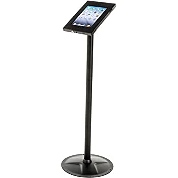 Amazon displays2go floor stand for 101 inch touch screen ipad and tablet floor stand locking 360 degree rotating enclosure cable management tyukafo
