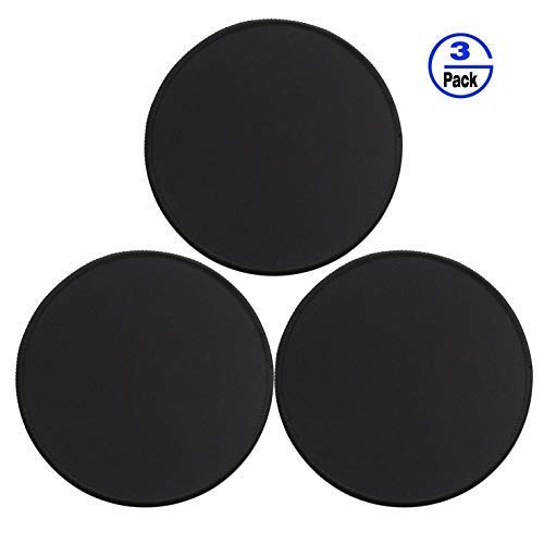 (Gimnor 3 Pack Round Mouse Pads with Stitched Edges, Single Circular Mouse Pad Mat, Non-Slip Rubber Base Mousepad for All Types of Mouse Laptop Computer PC 7.87 x 7.87 inches Black)