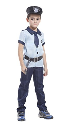 HalloweenCostumeParty costume light Police cosplay for toddler & kids boys (Cool Halloween Costumes To Make)