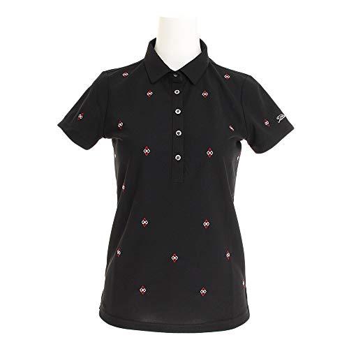 タイトリスト TITLEIST 半袖シャツ?ポロシャツ 総刺繍柄半袖ポロシャツ レディス ブラック S