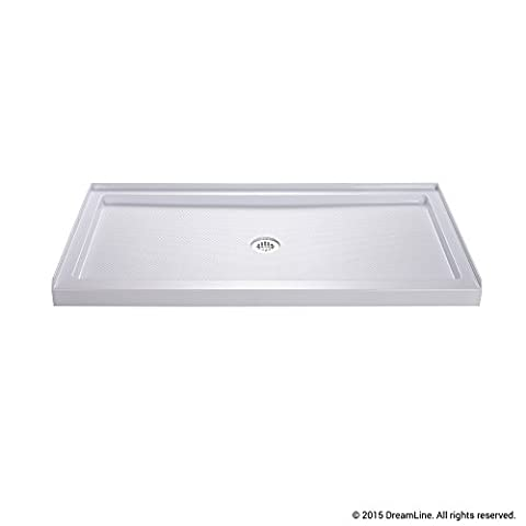 DreamLine SlimLine 30 in. x 60 in. Single Threshold Shower Base, Center Drain, DLT-1130600 (Shower Pan Floor)