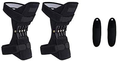 Knee Pads - Cuekondy Joint Support Knee Pads Powerful Rebound Spring Force Knee Band Mountaineering Deep Care Self-heating Wristband