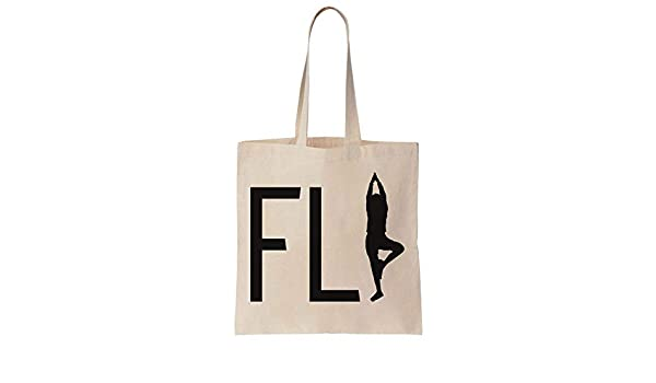 Finest Prints Fly Yoga Human Silhouette Cotton Canvas Tote ...
