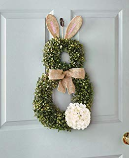 The Lakeside Collection Cottontail Bunny Wreath - Easter Front Door Decoration