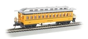 Bachmann Industries 1860 - 1880 Passenger Cars - Coach - Durango & Silverton #270, Yellow, Black & Silver by Bachmann Industries Inc