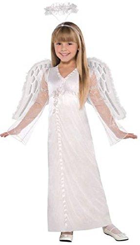 Amscan Girls Heavenly Angel Costume - Medium (8-10) White ()