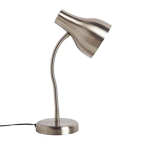 Urban Shop Task Lamp Silver
