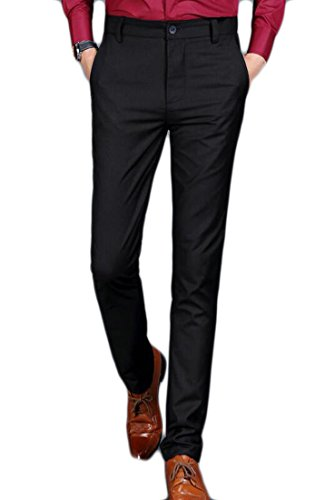 UUYUK Men's Slim Fit Fleece Lined Stretch Suit Pant Dress Trousers one 28 ()