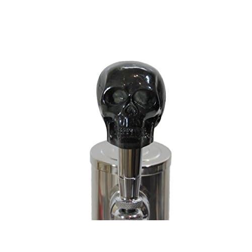 Black Skull Beer Tap Handle Kegerator Resin Zombie Breweriana Bar