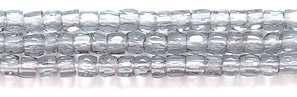 (Preciosa Ornela Czech 3-Cut Style Seed Glass Bead, Size 9/0, Transparent Grey, 3000-Pack)