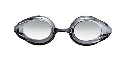Arena Tracks Mirror Swim Goggles, Black/Smoke Silver/Black