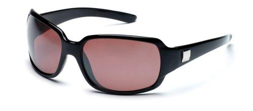 (Suncloud Optics Cookie Sunglasses (Black with Rose Polarized Polycarbonate Lens))