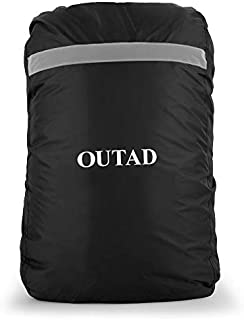 Emily OUTAD Waterproof Backpack Rain Cover With Reflective Strip Rain Proof Cover black M