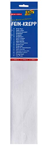 Folia 250x50cm 32g/m² Blanc papier crêpon - papiers crêpon (2500 mm, 500 mm)