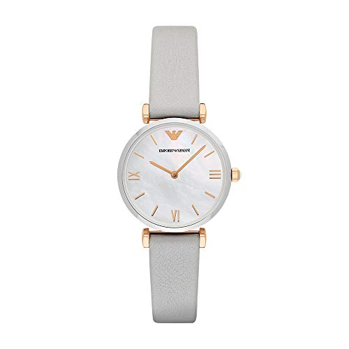 Emporio Armani Women's AR1965 Retro Grey Leather Quartz Watch from Emporio Armani
