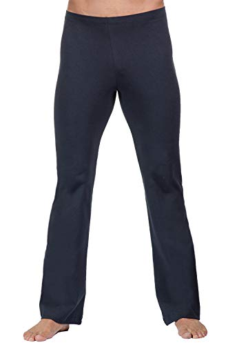 FitwearUSA Men's Basic Dance Pant with Elastic Waist (Black/Medium) (Mens Jazz Pants)