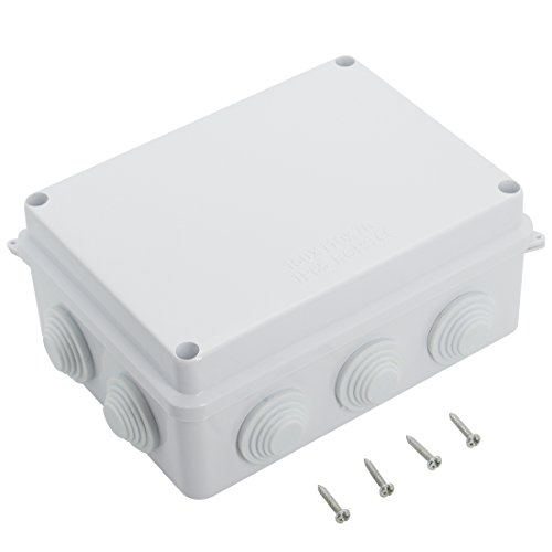 LeMotech ABS Plastic Dustproof Waterproof IP65 Junction Box Universal Electrical Project Enclosure White 5.9 x 4.3 x 2.8(150mmx110mmx70mm)