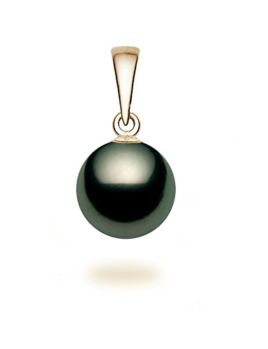 14K-Yellow-Gold-AA-Quality-Black-Tahitian-Cultured-Pearl-Pendant