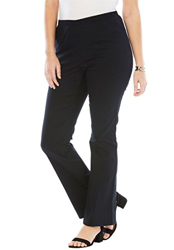 Women's Plus Size Petite Stretch Bootcut Jeggings Black,18 Wp (Suit Roamans Pant Womens)