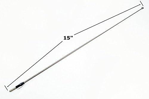 "8/"" Black Stainless AM FM Antenna Mast FITS 1997-2005 Chevrolet Malibu"