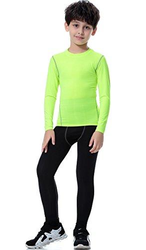 CHANGTAI CT Boys Football Compression Underwear Set 2pcs Thermal Long John for Kids