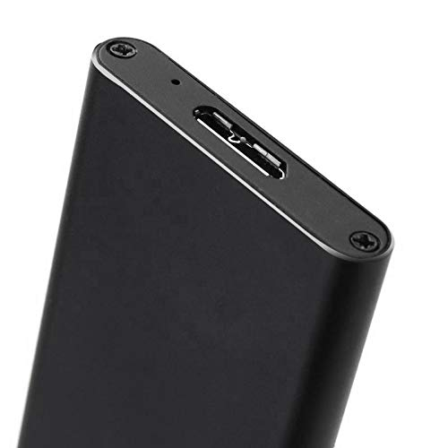 Negro Gaoominy M.2 Ngff Ssd Sata a USB 3.0 Caja Adaptador Conversor Caja de Almacenamiento Recinto Externo con Destornillador para Disco Duro M2 Ngff Ssd
