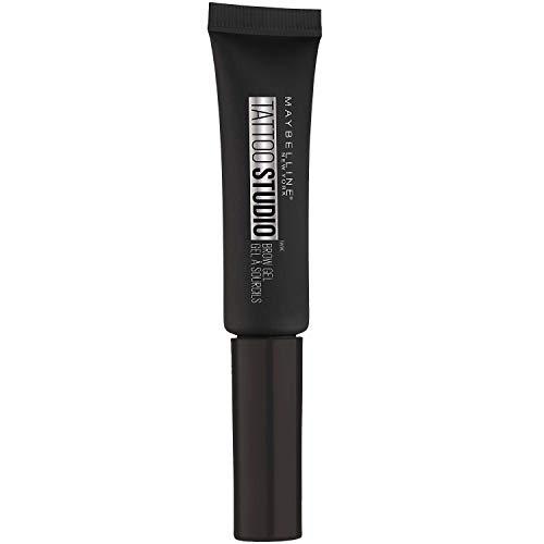 Maybelline TattooStudio Longwear Waterproof Eyebrow Gel Makeup for Fully Defined Brows, Spoolie Applicator Included, Lasts Up To 2 Days, Black Brown, 0.23 Fl Oz (Pack of 1)