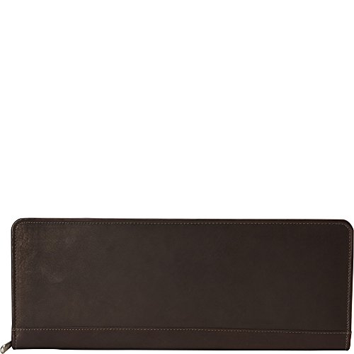 Piel Leather Zippered Tie Case with Snaps, ()