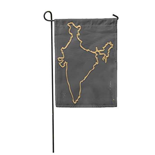 Semtomn Garden Flag Administrative India Map in Look