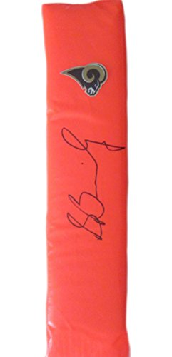 Los Angeles Rams Stedman Bailey Autographed Hand Signed LA Rams Full Size Logo Football Touchdown End Zone Pylon with Proof Photo of Signing and COA- St. Louis Rams Collectibles ()