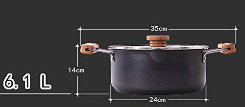 MYKJ Nanometer Tao Jing High Soup Pot Anti-Overflow Soup Pot Double Ear Anti-Ironing Pot Pot Multi-Layer Compound Bottom Furnace General Pot,24cm
