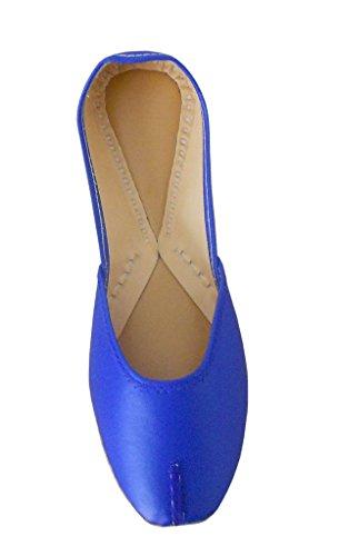 synthétique femme Chaussures Creations en rabat à cuir traditionnel étui pour de Bleu indien kalra qZ0fHWBRW