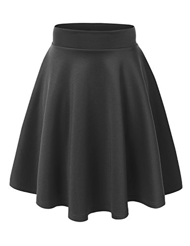 Potter Harry Wardrobe - MBJ WB829 Womens Flirty Flare Skirt XL Charcoal