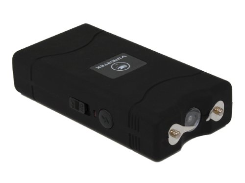 VIPERTEK VTS-880 - 5 Billion Mini Stun Gun - Rechargeable with LED Flashlight, Black
